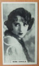 Bebe Daniels, Cigarette Card, Godfrey Phillips, Cinema Stars, 1930 card #28